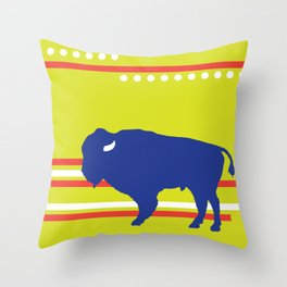 Bison striped Throw Pillow