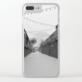 Coney Island Winter - Alley & Carousel Clear iPhone Case