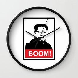 Kim Jong Un BOOM #society6 #decor #buyart #artprint Wall Clock