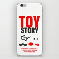 toy story iPhone & iPod Skins featuring Toy Story Movie Poster by FunnyFaceArt