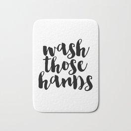 Wash Those Hands hands bathroom art bathroom sign printable hand lettered nursery decor kids Bath Mat