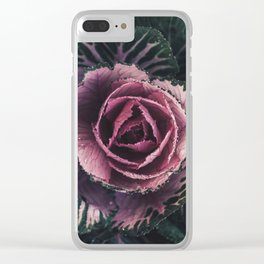 Pink Rosette Clear iPhone Case