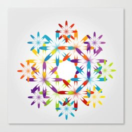 A large Colorful Christmas snowflake pattern- holiday season gifts- Happy new year gifts Canvas Print