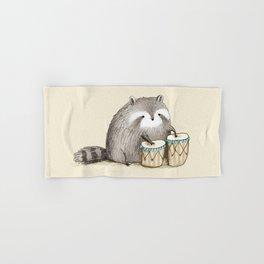 Raccoon on Bongos Hand & Bath Towel