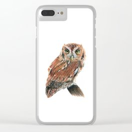 Screech Owl Clear iPhone Case