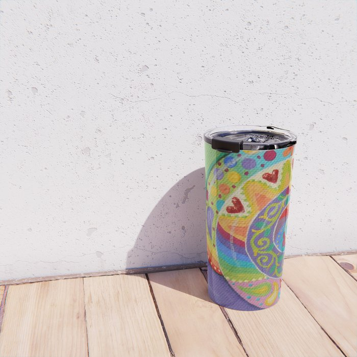 Psychedelic Snail, by Soozie Wray Travel Mug