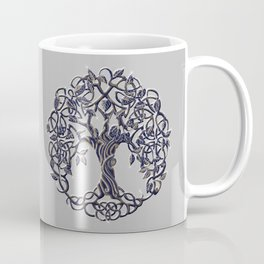Tree of Life Silver Coffee Mug