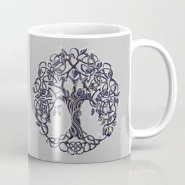 Tree of Life Silver Coffee Mug