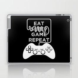 Eat Sleep Game Repeat Laptop & iPad Skin