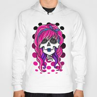 rockabilly Hoodies featuring 'Rockabilly skull' by NeonStarr