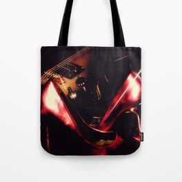 After the Set red high heels wine and music Tote Bag