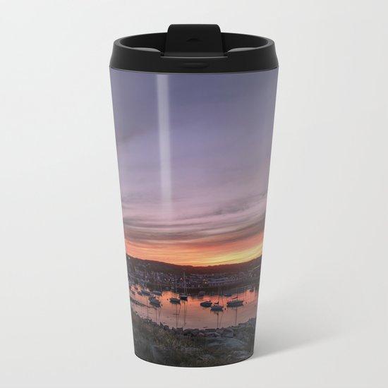 Last Rockport Sunset of Summer Metal Travel Mug