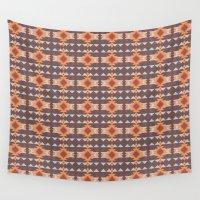 navajo Wall Tapestries featuring Navajo Pattern by Shea Sjoberg