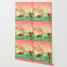 Elephants in the Ballroom Wallpaper