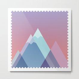 Stamp series - Everest Metal Print
