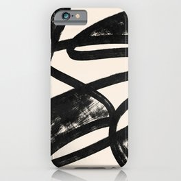 That was a cow - Abstraction print iPhone Case