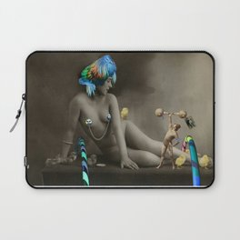 The Strongman & The Hooping Showgirl Laptop Sleeve