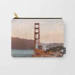 Cat on the Golden Gate Bridge Carry-All Pouch