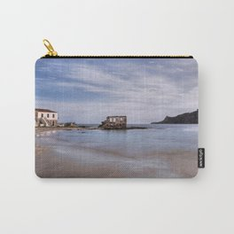 The ruins of a house in the middle of the sea in the village Plytra in the Southern Peloponnese, Greece Carry-All Pouch