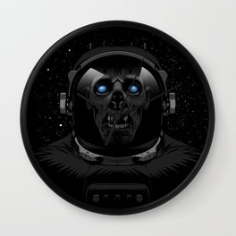 Zombie Astronaut Wall Clock