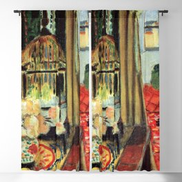 Henri Matisse Interior with Flowers and Parakeets Blackout Curtain