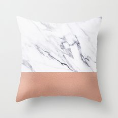 Marble Rose Gold Luxury iPhone Case and Throw Pillow Design Throw Pillow