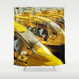 Yellow Taxi Boats Shower Curtain