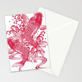 Red Koi Stationery Cards