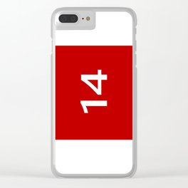 Legendary No. 14 in red and white Clear iPhone Case