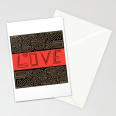 Black and red abstract pattern . Stationery Cards
