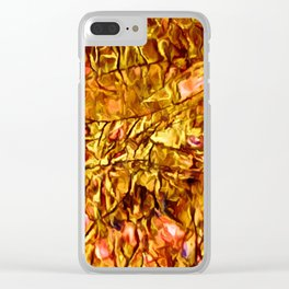 Coral Accents Stonescape Clear iPhone Case