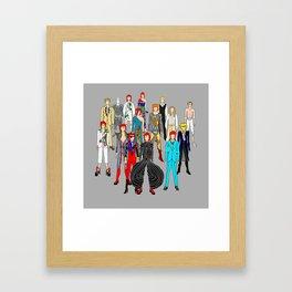 Heroes Doodle Square Framed Art Print