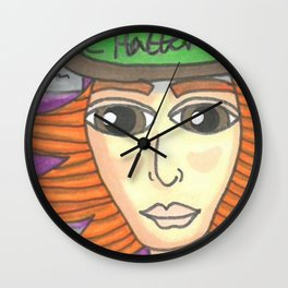 Alice and Hatter Wall Clock