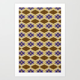 Blue and Brown by Melissa Brown Art Print