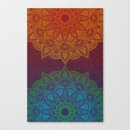 Mandala - twins Canvas Print