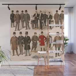 Men's fashion fall and winter 1895 Wall Mural