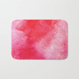 Red Watercolor Wall Art Bath Mat