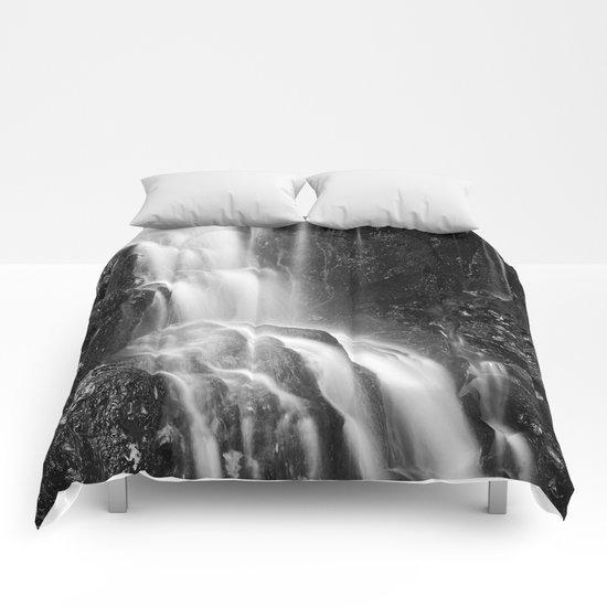 Avalon Falls - Black & White Comforters