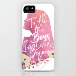 lara jean - to all the boy's i've loved before iPhone Case