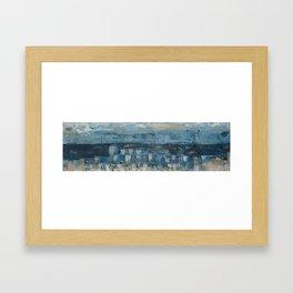 Burleigh Blue Rip Framed Art Print