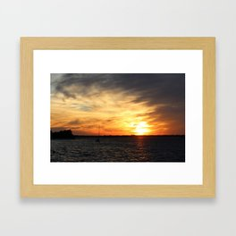 Beaufort Sunset Framed Art Print