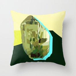 Olive Gem Throw Pillow