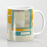 mid century modern Mugs featuring Mid Century Modern Abstract by Corbin Henry