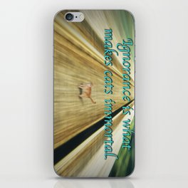 The Ignorance of Cats iPhone Skin