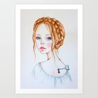 doll Art Prints featuring Doll by Black Fury