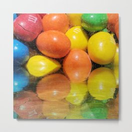 M&M's Candy at the Waters Edge Metal Print