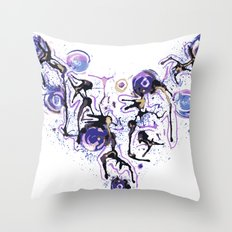 Watercolor Necklace Throw Pillow
