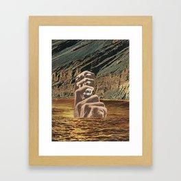 itchy finger Framed Art Print