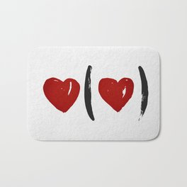 I Carry Your Heart with Me (I Carry It in My Heart) Bath Mat