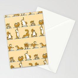 Squirrel Yoga Stationery Cards